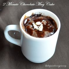 Today's recipe is 2 minutes chocolate mug cake.i.e., the time for mixing it and making it ready is 2 minutes. I found this recipe , even b...
