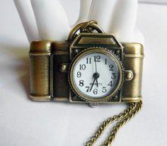 Camera Watch Necklace