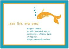 New Pond - Moving Announcements in Aqua or Red Lantern | Hello Little One