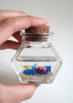 Miniature Polymer Clay & Resin Coral Reef in by oceansinminiature