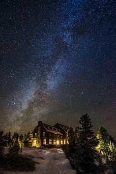 New on : Stars Over Crater Lake Lodge Oregon USA by by Lodging at Crater Lake Oregon