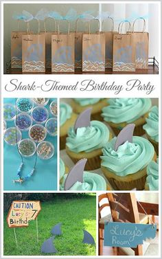 Shark Themed Birthday Party for Girls w/ shark activities, crafts and more! ~ BuggyandBuddy.com