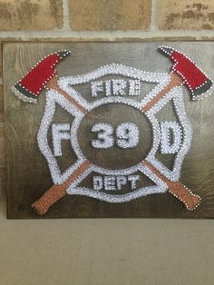 Personalized Fire Department String Art