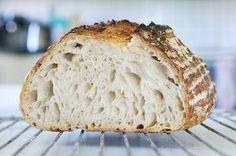 Här kommer själva grundreceptet på det där brödet på fast surdeg som jag pratade om. Jag har bakat enligt ungefär samma recept i över en vec...