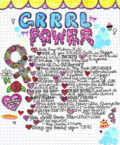 this is a playlist of just a few of my favorite grrrl power songs (i forgot a ton of great ones)- anyway, full track listing is here, and you can listen to it all on 8trackshere!