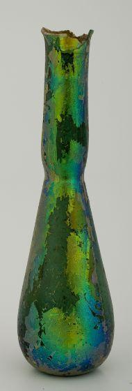 TEAR BOTTLE  Vessel  Egyptian  Glass  8.9 x 2.5 cm (3 1/2 x 1 in.)