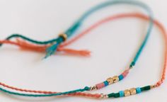 silk and gold bracelet set by ORA for of a kind