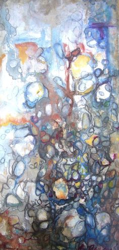 Rusted River by Amy Barone  Original Abstract by AmyBaroneArt, $200.00