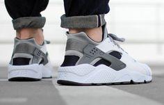 Nike Air Huarache White Wolf Grey Cool Grey (blanc é gris) (3)