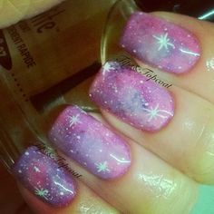 Tips and Topcoat: Galaxy Nails Oolala :) #nail #nails #nailart #unha #unhas #unhasdecoradas #galaxy