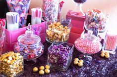 Purple Candy Buffet Ideas   15 Awesome Candy Buffet Ideas You Need to Steal Today