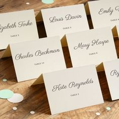 Finally...an easy way to print your own place cards! Use our online templates to set up your text, run these 8.5 x 11 sheets through your printer, then separate the place cards by the tiny mico-perfor