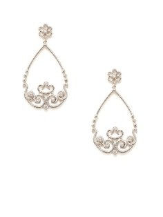 Diamond Flower & Swirl Teardrop