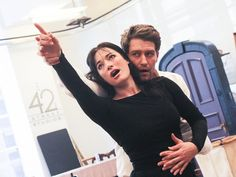Laura Michelle Kelly and Matthew Morrison in rehearsal for FINDING NEVERLAND