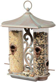 twin tube bird feeder