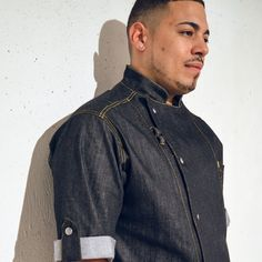 This beautiful coat is made of lightweight stretch denim. We asked and listened, and have designed a coat specifically for the working chef.We've made it longe