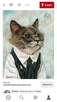 cat art the student on catching mice by - cat I Love Cats, Crazy Cats, Cool Cats, Cute Kittens, Cats And Kittens, Ragdoll Kittens, Bengal Cats, Comic Cat, Catching Mice