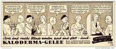 Werbung - Original-Werbung / Anzeige 1938 - KALODERMA GELEE / CARTOON - ca. 190 x 75 mm