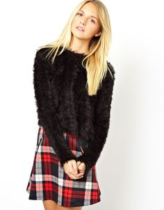 Cropped Fluffy Jumper