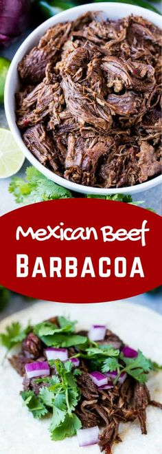 Mexican Beef Barbacoa is part of Barbacoa beef This easy recipe for Mexican Beef Barbacoa is full of authentic flavor and can be easily made in the oven, slow cooker, or Instant Pot! Mexican Cooking, Mexican Food Recipes, Drink Recipes, Crockpot Recipes, Cooking Recipes, Healthy Recipes, Healthy Nutrition, Healthy Eating, Beef Barbacoa