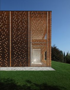 The Stunning perforated wood screen-encased Villa has been designed by Italian architect Marco Castelletti.  For more architecture inspiration, visit www.insideoutside.in