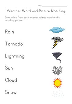 Looking for a Printable Weather Worksheets For Kids. We have Printable Weather Worksheets For Kids and the other about Benderos Printable Math it free. Seasons Worksheets, Weather Worksheets, Kids Math Worksheets, Weather Activities, Preschool Weather, Weather Science, Educational Activities For Kids, Science Activities, Kids Learning