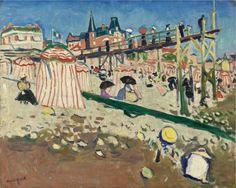 Albert Marquet, 1906, Fécamp (The Beach at Sainte-Adresse), oil on canvas, 64.5 x 80 cm
