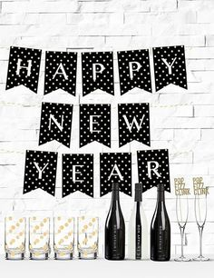 polka dot happy new year banner free download