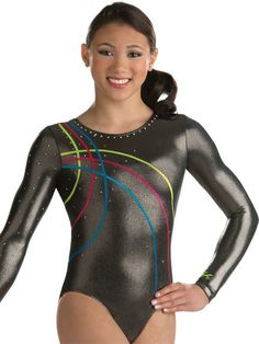 Fancy Zig Zag Trim Competition Leotard from GK Elite