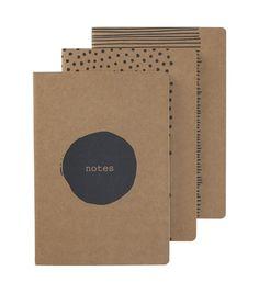 3-pak notitieboek A5 - HEMA