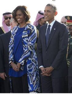 Michelle Obama highlights the harsh restrictions on Saudi women when she meets King Salmon w/out a headscarf.