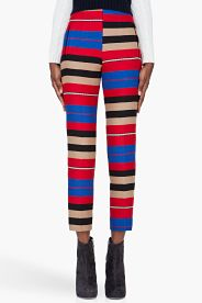 CARVEN Red Striped Combo Pants