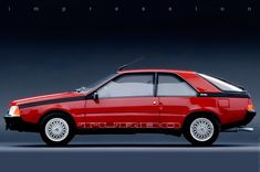 Renault Fuego Turbo 1984, My college roommate actually had this car in silver.  I always thought it was U-G-L-Y until now.