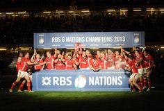 Wales celebrate winning the 2013 Six Nations Championship