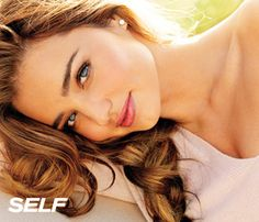 """Miranda Kerr's Top Look-Great Tips: Get a perk-me-up. """"I love body brushing! With a dry body brush, you brush your skin from your toes all the way up to your heart, and then from your arms all the way in to your heart. It's invigorating!"""" #SelfMagazine"""