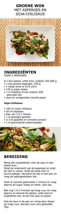 Inspiratie voor in de keuken - Groene wok met asperges en soja-chilisaus | #IKEA #IKEAnl #koken #gerecht #salade #asperges #groen #gezond #kweken #tuinieren #groente #sla #VÄXER