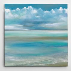 Blue Ocean and Sky Art wide) & Ocean Beach Art Canvas From Courtside Market Two blue sky and ocean art canvas prin. Beach Canvas Art, Beach Art, Canvas Artwork, Ocean Beach, Ocean Canvas, Beach Room, Blue Canvas, Seascape Paintings, Painting Prints