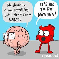 Akward Yeti, The Awkward Yeti, Awkward Funny, Funny Facts, Funny Quotes, Funny Memes, Funny Bio, Heart And Brain Comic, Funny Science Jokes