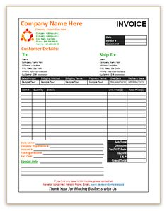 Sales Invoice Template with Blue Theme | Invoice Templates ...