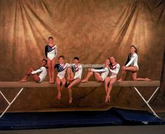 The Magnificent Seven! (Left to Right) Dominique Dawes, Dominique Moceanu, Kerri Strug, Amy Chow, Jayce Phelps, Amanda Borden, Shannon Miller