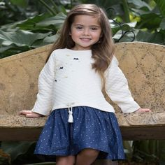 The sweetest quilted Fox & Finch dress with denim skirt. This dress can be dressed down or up to be perfect for any occasion. Fox & Finch an establish Tutus For Girls, Dress For You, Denim Skirt, Dress Skirt, Girl Fashion, Winter Fashion, Brittany, Skirts, Cloud