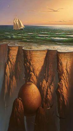 """Vladimir Kush // Surrealismo, """"el mundo de los sueños""""."""