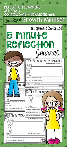 Student Reflection Journal First and Second Grade Reflection Journal. Build a growth mindset, set goals, reflect on learning and more! First Grade Writing, Second Grade Math, Grade 1, Primary Education, Elementary Education, Education Posters, Childhood Education, Visible Learning, Classroom Activities