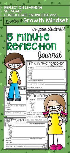 First and Second Grade Reflection Journal. Build a growth mindset, set goals…