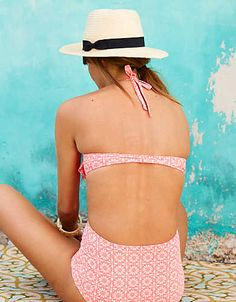 Lightly lined support only a bikini top based on your fave bra can give you.