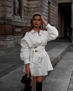 Source by Theblondegirlx shirt dress Trendy Outfits, Fashion Outfits, Womens Fashion, Street Style Edgy, Mode Chic, Inspiration Mode, Everyday Outfits, Look Fashion, Passion For Fashion