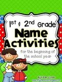 1st and 2nd grade Name Activities for the Beginning of the