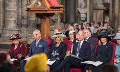 The Queen, Prince Charles, Camilla, Prince William and Kate all sat in a row together. <p>Photo: © Getty Images