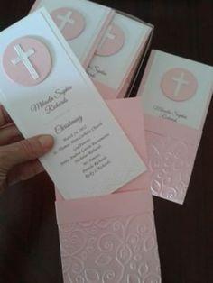 tarjetas de comunion para niña en rosado