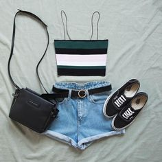 Women's Outfit of the Day 😍 Teenage Outfits, Teen Fashion Outfits, Cute Fashion, Outfits For Teens, Casual Teen Fashion, Lover Fashion, Tumblr Outfits, Mode Outfits, Short Outfits